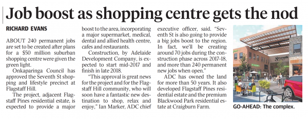 Job boost as shopping centre gets the nod